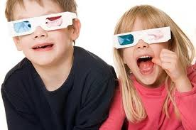 2 kids with 3-d glasses