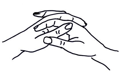 Hands Clasped Together Drawing The Hands Are Clasped Together