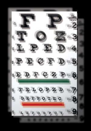eye chart ghosting