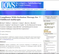 IOVS Compliance With Occlusion Therapy for Childhood Amblyopia