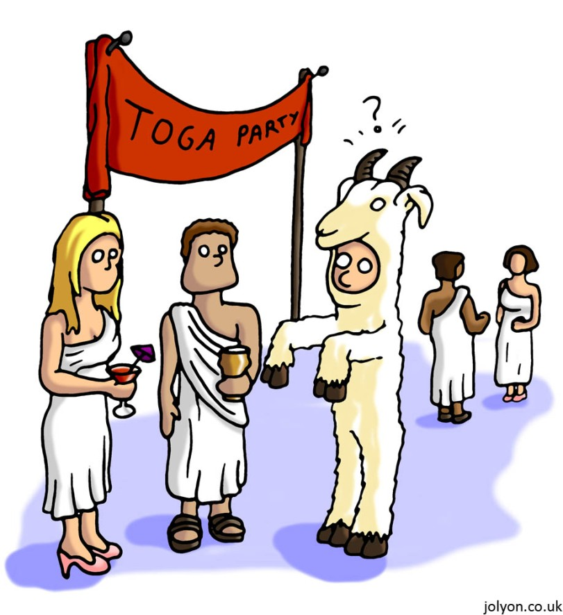 Toga Party Goat
