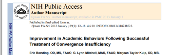 Improvements in Academic Abilities following treatment of CI