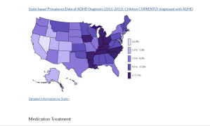 Map of ADHD by State