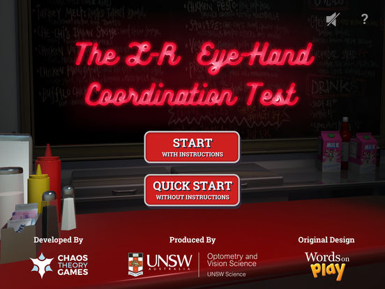 L-R Eye Hand Coordination Test