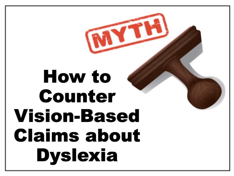 Dyslexia Vision Myth